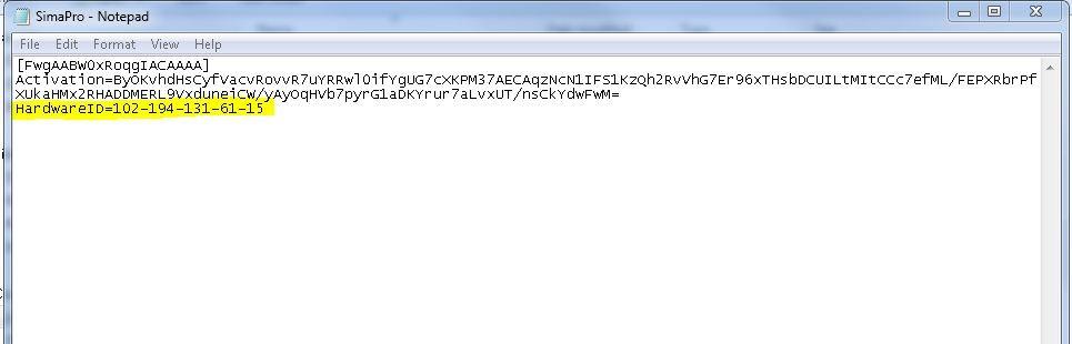 Machine ID in Notepad