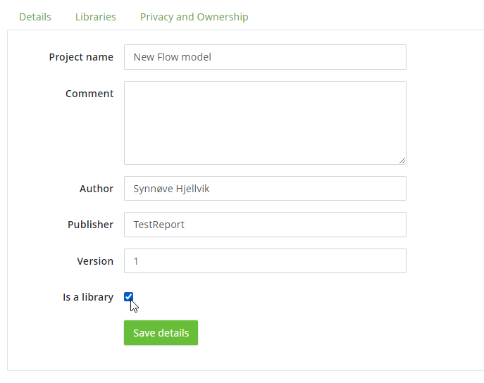 Is a library project details