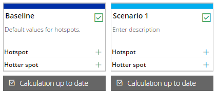 Two selected scenarios
